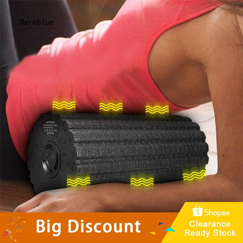 DKBL_Electric Rechargeable Vibrating Massager Fitness Muscle Body Relief Foam Roller
