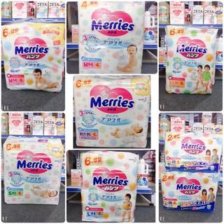 Tã quần/dán Merries Nội địa Nhật NB96/S88/M68/L58/M64/L50/XL44/XXL28