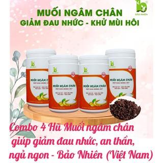 Combo 4 Hũ Muối ngâm chân giúp giảm đau nhức, an thần, ngủ ngon - Bảo Nhiên (Việt Nam) thumbnail