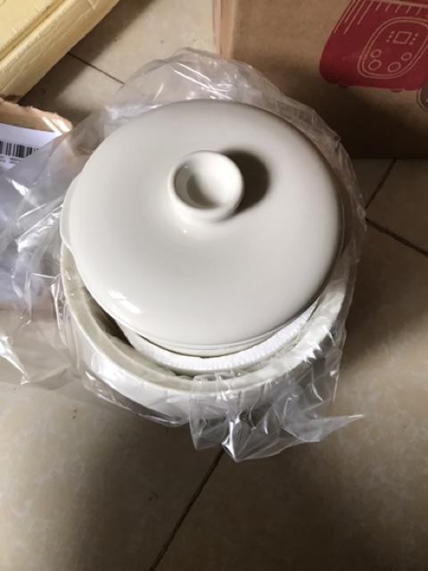 Đánh giá sản phẩm (FREESHIP-CÓ SẴN) Nồi nấu cháo ninh hầm cách thuỷ cho bé Bear 0,8l (có thể nấu và hấp cùng lúc) của khucchihaidang
