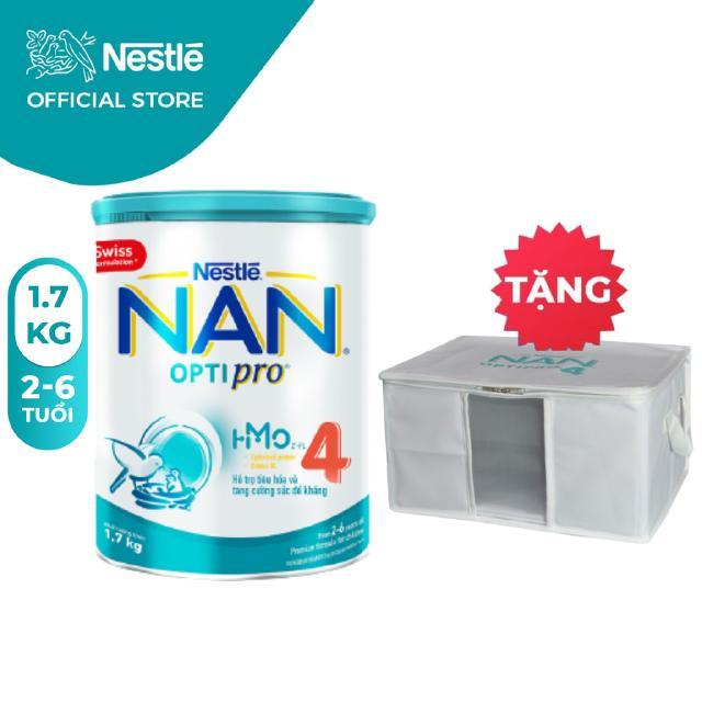 Sữa Bột Nestle NAN Optipro 4 (1.7kg) [Tặng 1 Thùng Vải Đựng Đồ]