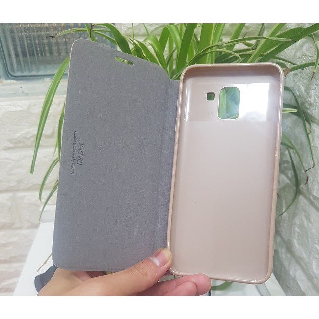 Bao da Samsung Galaxy J6 chính hãng FIBCOLOR X-Level PIPILU HongKong