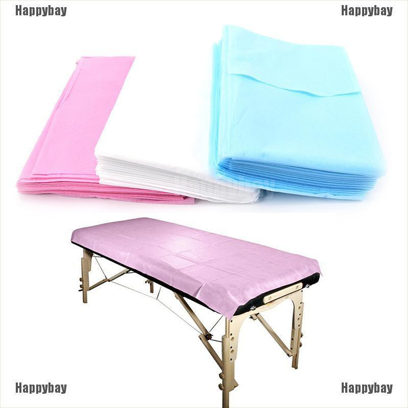 Happybay 10PC Waterproof Beauty Bed Massage Table Couch Cover Non-Woven Sheet 180*80cm