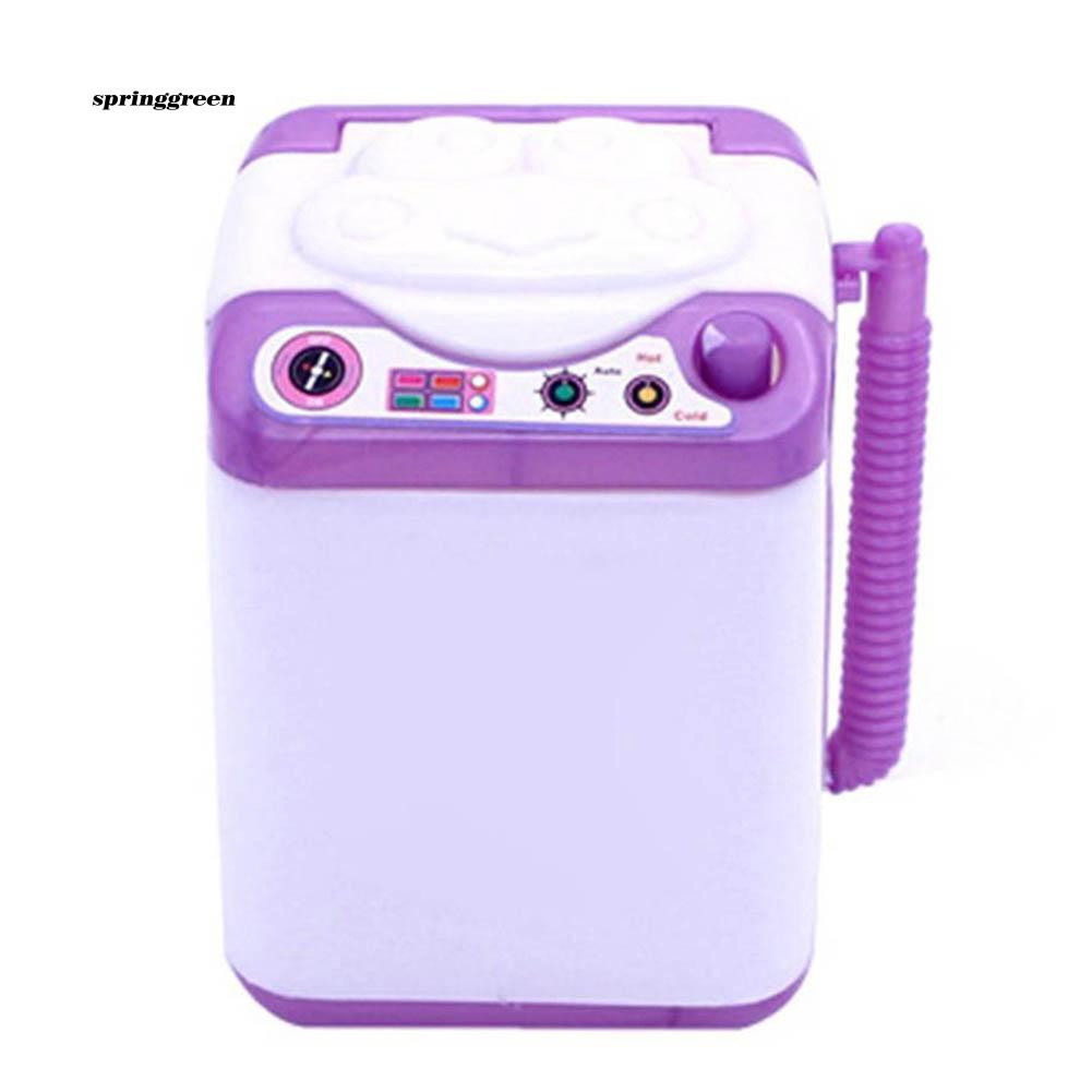 SPR♥Mini Simulated Kids Children Washing Machine RolePlay Toys Gift Doll Accessories