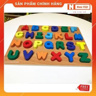 Bảng chữ cái Tiếng Anh hoa gỗ nổi mẫu lớn đồ chơi giáo dục Nam Việt