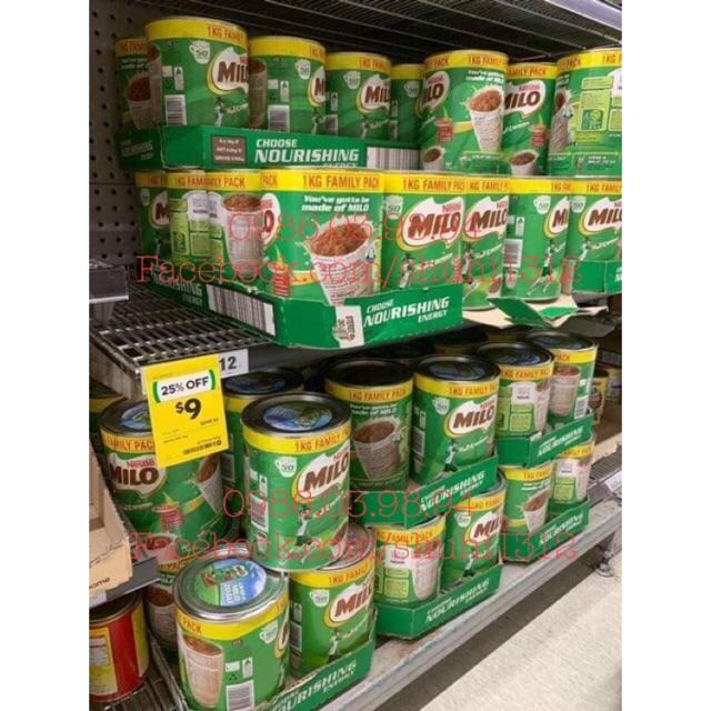 Sữa Milo nội địa Úc hộp 750g, 1kg, 1,25kg