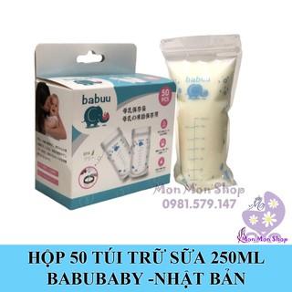 Hộp 50 túi trữ sữa mẹ Babuu Baby Nhật Bản 250ml 2 zip khóa thumbnail