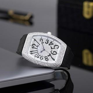Đồng hồ nữ Franck mullermáy pin dây cao su mặt full đá cao cấp có bảo hành DHN002 12Th thumbnail