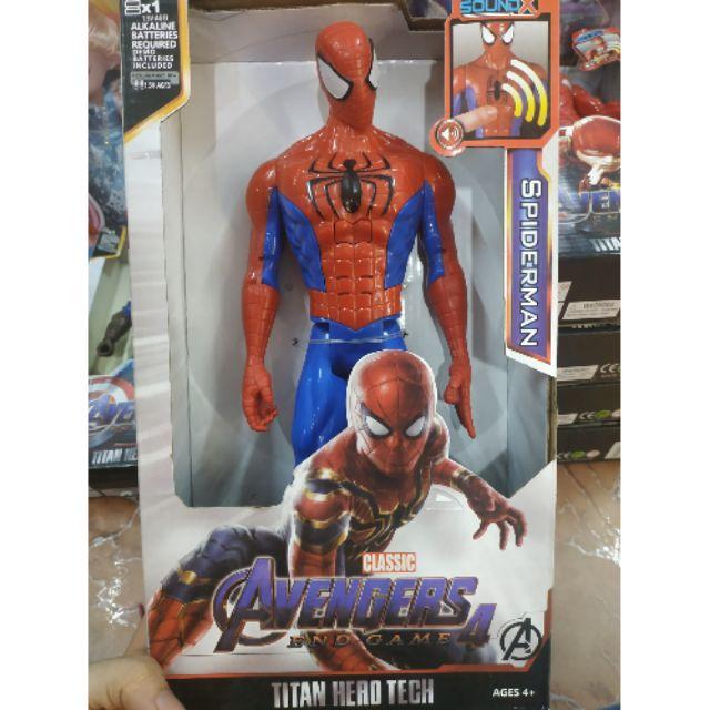 Mô hình siêu anh hùng Avengers Endgame 4 – Spider Man 30cm nhạc đèn