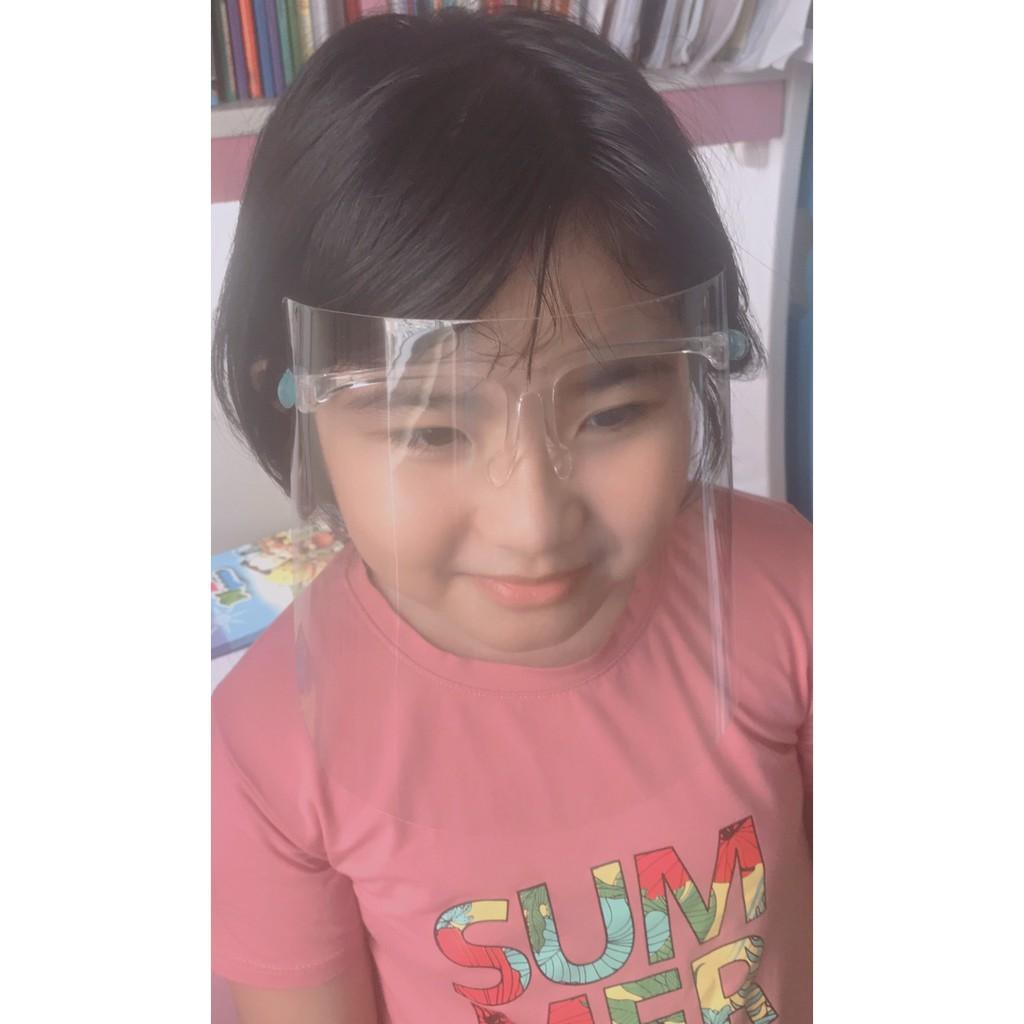Face shield kính phòng hộ chống giọt bắn. [Nón Chống Dịch]Bụi có gọng cao cấp phù hợp mọi lứa tuổi