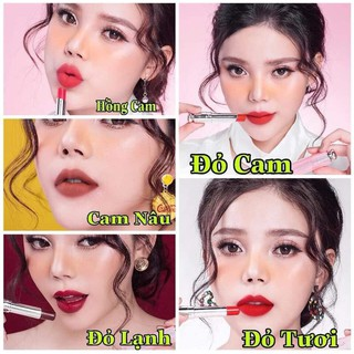 Son lì collagen Las beauty- đỏ cam, cam đất