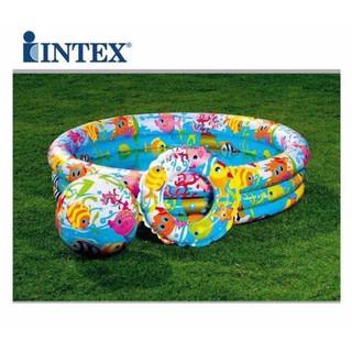 Bể bơi Intex 3 tầng kèm bóng + phao bơi