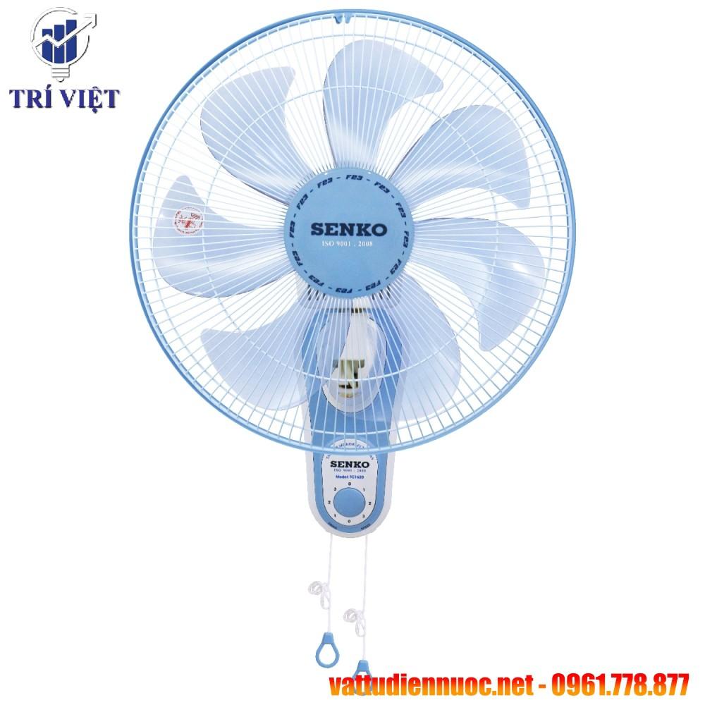 [FREESHIP] Quạt treo tường Senko TC1620 (65W) chính hãng - Bảo hành 2 năm - 7 cánh quạt siêu mát, độ ồn thấp