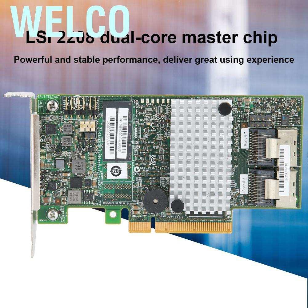 Card Lsi 9267-8i 2208 6 Gbit / S 512 Mb Pci-E 2.0 8-port Sata / Sas Raid0 / 1 / 10