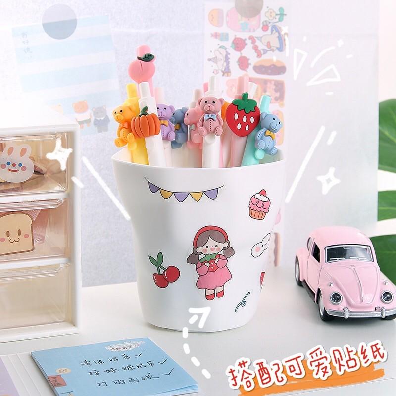 Hộp đựng bút đề bàn, cốc cắm bút trang trí bàn học, hộp cắm bút để bàn tiện dụng dễ thương