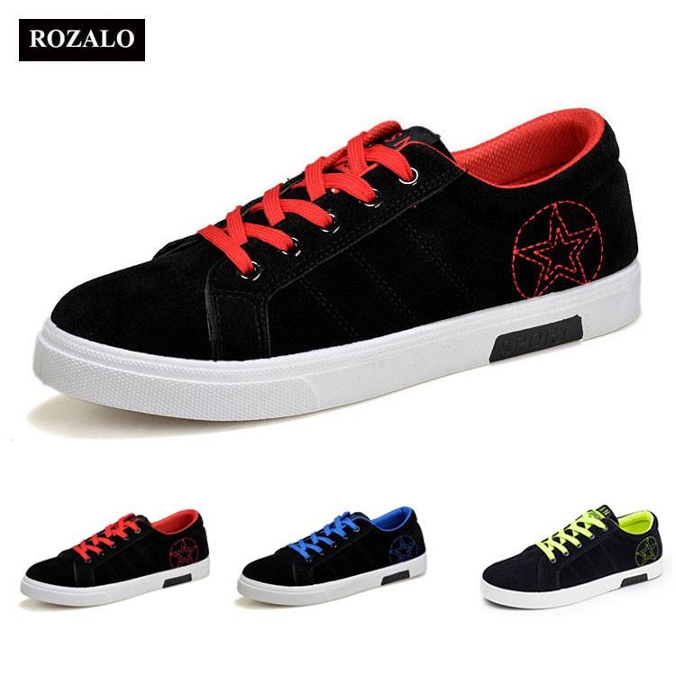 Giày sneaker nam kiểu dây buộc Rozalo RM8607