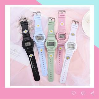 Đồng hồ điện tử nam nữ Aosun dây hoa cúc mẫu mới cực hot DH106
