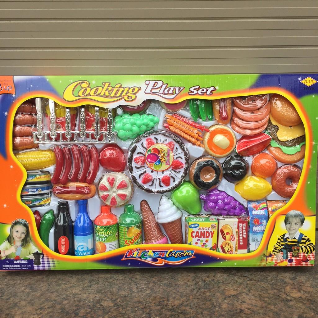 Bộ đồ chơi Bàn tiệc sinh nhật 76 chi tiết (cooking play set 8923)