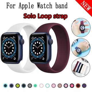 Dây Đeo Silicone Thay Thế Cho Đồng Hồ Thông Minh Apple Watch 6 Se 5 4 3 2 1 38mm / 40mm 42mm / 44mm
