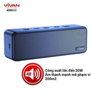 Loa Bluetooth 5.0 VIVAN VS20 Chống Nước IPX7 Công suất 20W Pin 3600mAh Playtime đến 24H Hỗ trợ thẻ Micro SD và cổng AUX thumbnail