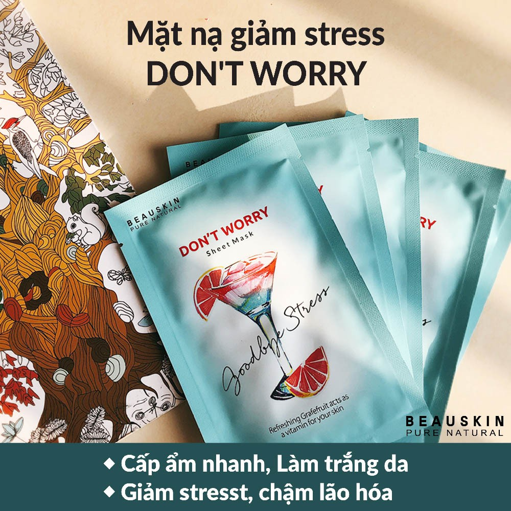 Bộ 10 Mặt Nạ Giảm Stress Beauskin Don't Worry 25ml/miếng