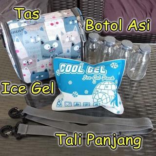 Túi Đựng Gel Lạnh + Bình Thủy Tinh Asi