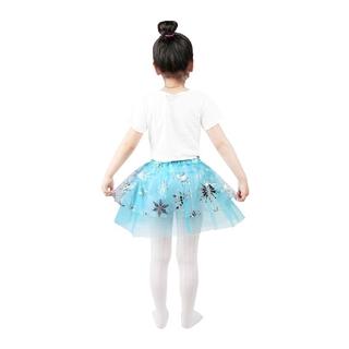 Chân váy xoè Tutu phối hoa trang phục múa ba lê cho bé gái