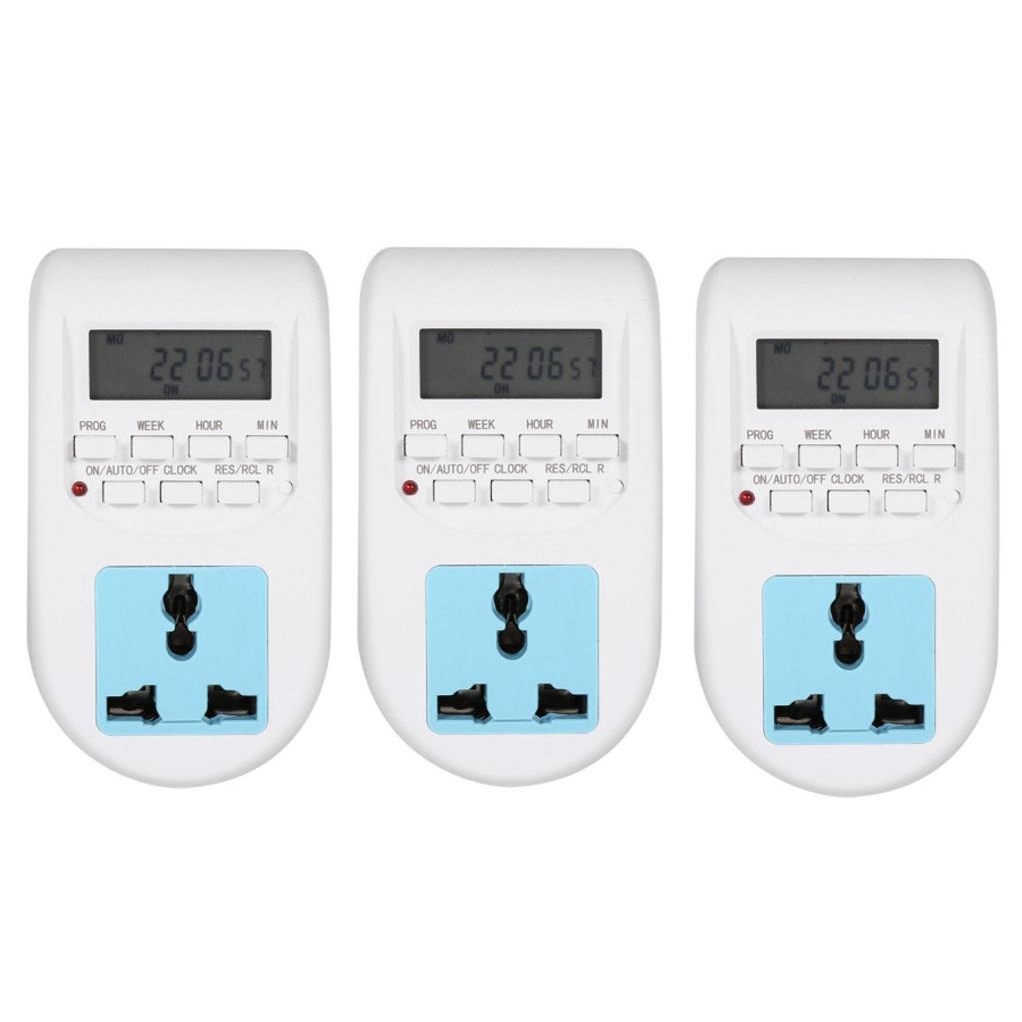 Combo 3 ổ cắm điện thông minh hẹn giờ tắt mở thiết bị AL-06 | Nông Trại Vui  Vẻ - Shop