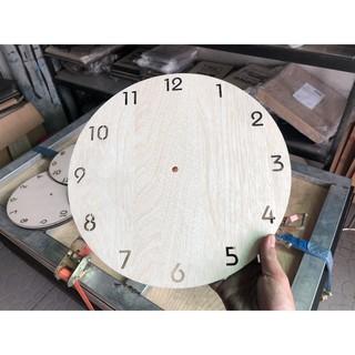 Phôi đồng hồ trang trí bằng gỗ tròn 30cm