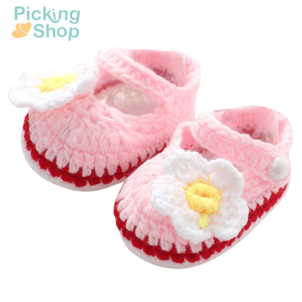 Handmade Newborn Baby Infant Boys Girls Crochet Knit Toddler Shoes