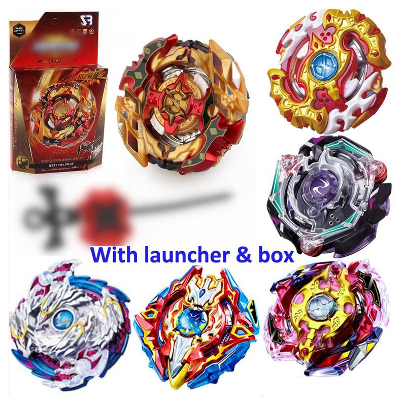 🔥Beyblade Burst Metal Toy With Launcher Arena Gyroscop Boys Spinning Top Set 陀螺