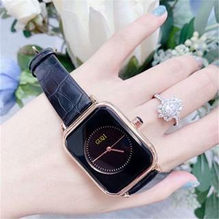 Đồng hồ nữ + GUQI GU8162 + Dây da cao cấp +Mặt chữ nhất cực hót + Đồng hồ GU HOT