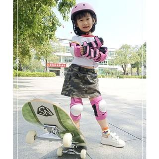 Đồ bảo hộ trượt patin trẻ em được trang bị trọn bộ ván thăng bằng mũ hiểm đầu gối cho xe đạp thumbnail
