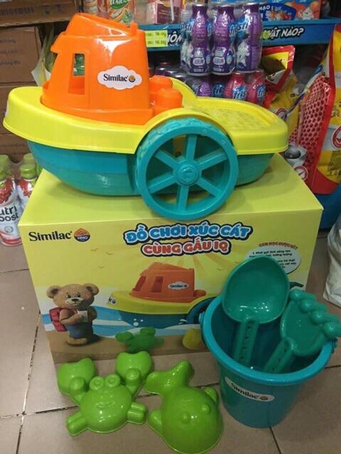 Bộ đồ chơi xe xúc cát- hàng km sữa similac
