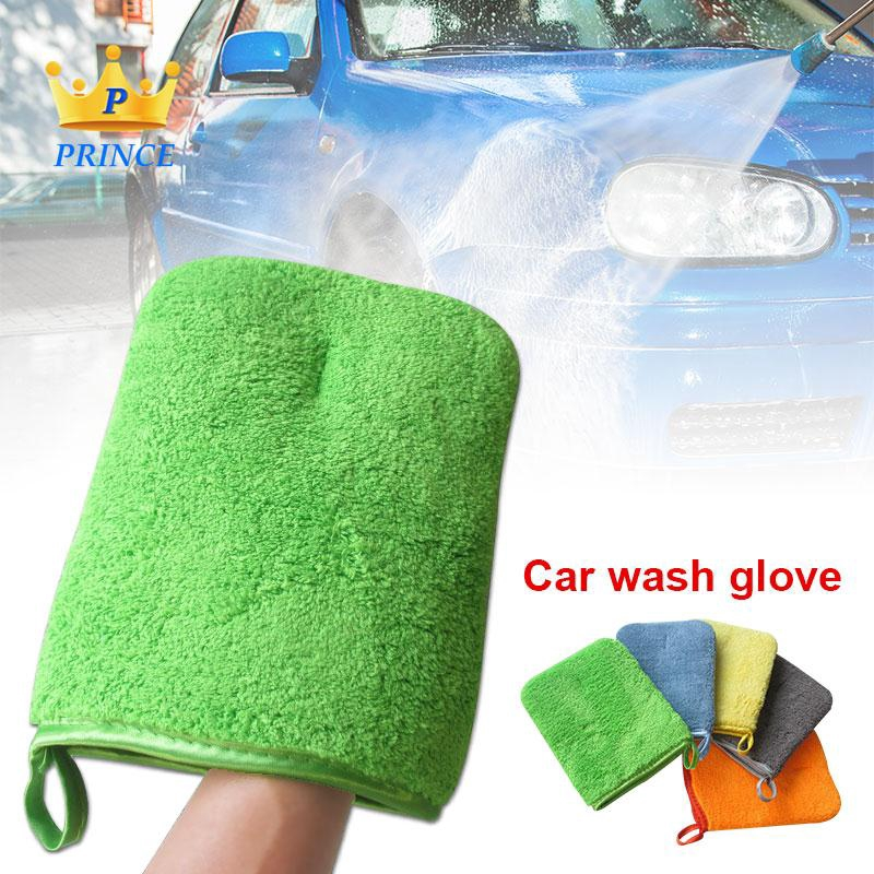 Ready Stock Car Washing Glove Cars Double-Sided Thick Univrsal