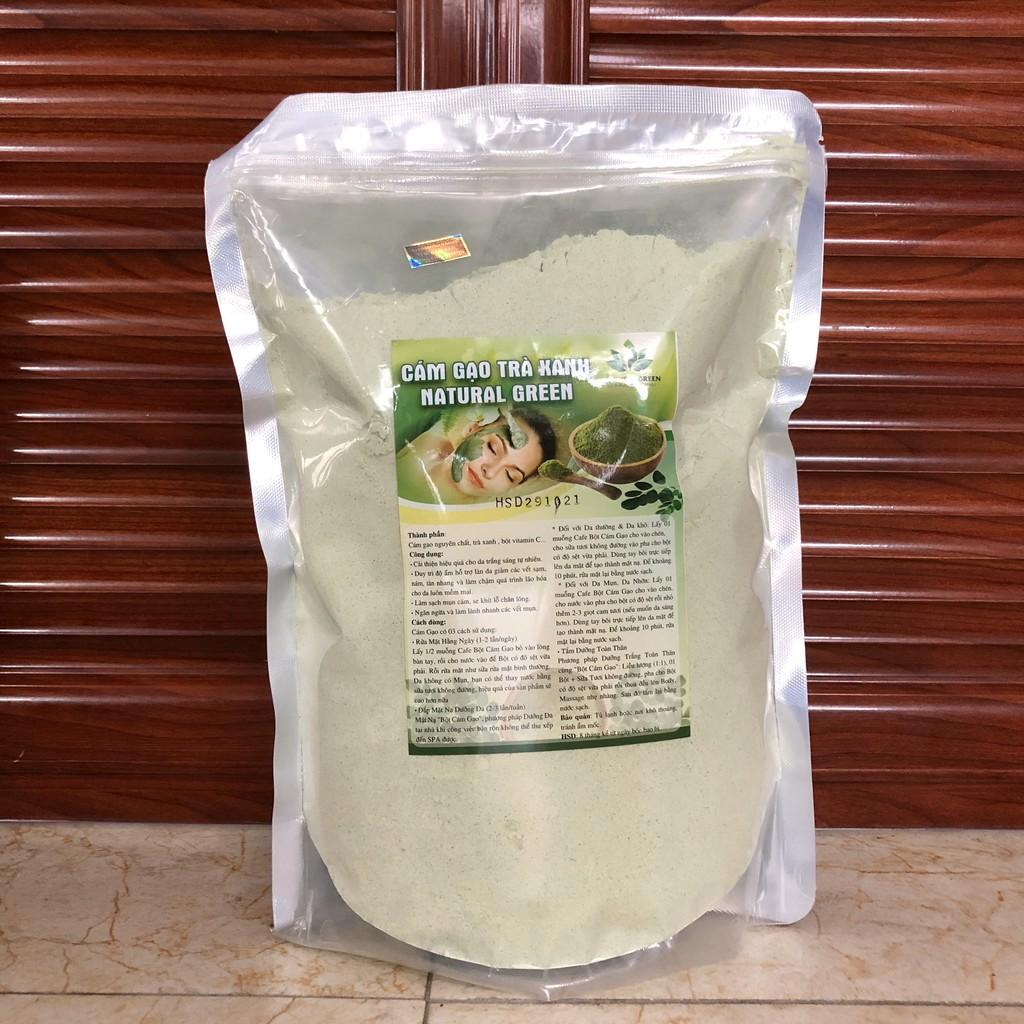 500GR Bột cám gạo trà xanh,ủ trắng trà xanh,rửa mặt và tắm trắng body chính hãng mỹ phẩm thiên nhiên