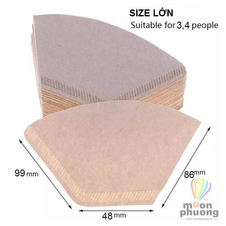 [FRSHP15K] 100 miếng giấy lọc cafe trà bột giấy nguyên chất - MUÔN PHƯƠNG SHOP