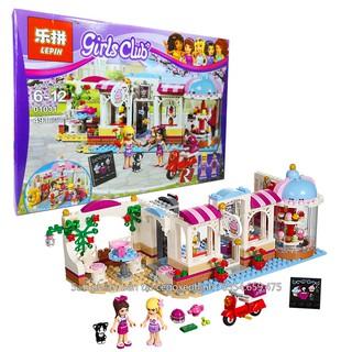 Bộ Lego Xếp Hình Friends Cửa Hàng Kem. Gồm 476 Chi Tiết. Lego Ninjago Lắp Ráp Đồ Chơi Cho Bé