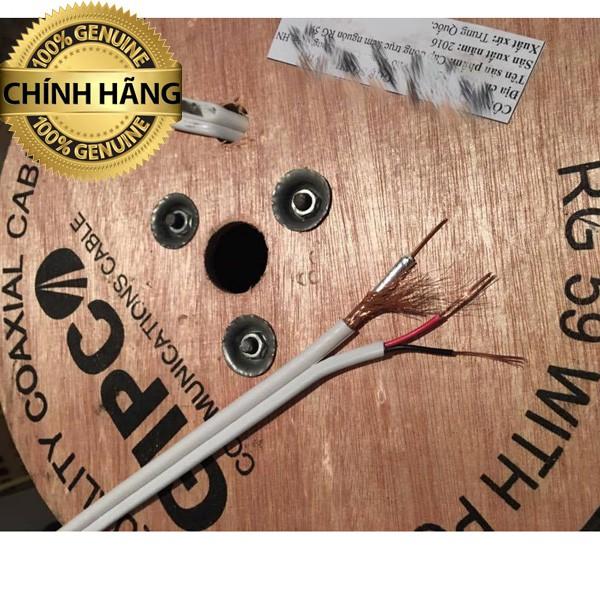 Cable đồng trục liền dây nguồn GIPCO RG59 chuyên dụng camera