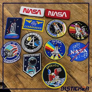 PATCH VẢI VELCRO NASA, SPACEOUT khoá dán dùng trang trí quần áo quân đội, mũ(nón), balo