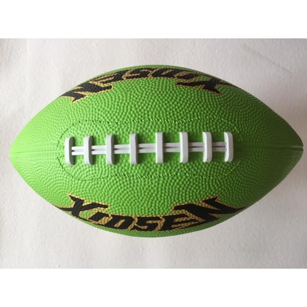 Quả bóng bầu dục đồ chơi kích thước 3 bằng cao su bền chắc màu sắc ngẫu nhiên dùng làm quà tặng Giáng Sinh