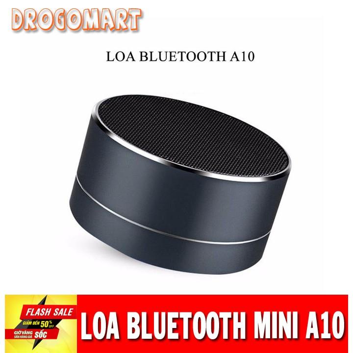 ( FREESHIP 99K ) Loa bluetooth mini led nháy vỏ nhôm A10 Âm thanh sống động Bảo Hành Chính Hãng 1 đổi 1