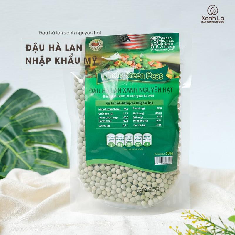 500g - 1kg Đậu Hà Lan xanh nguyên hạt nhập khẩu Mỹ