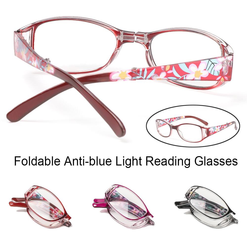 🌱FOREVER🌱 Fashion Anti-blue Light Glasses Printing Folding Presbyopia Eyewear Foldable Reading Eyeglasses Vision Care Vintage Classic Men Women Radiation Protection...