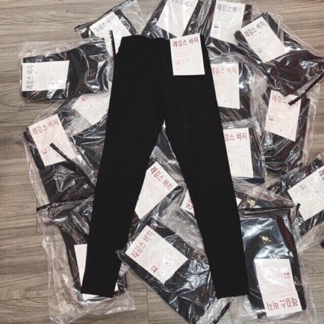 Quần legging nữ cạp cao xuất Hàn siêu co giãn
