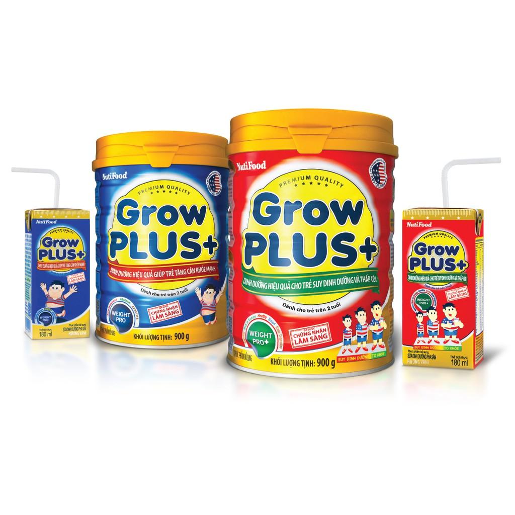 Sữa Grow Plus xanh, đỏ Nutifood 900g