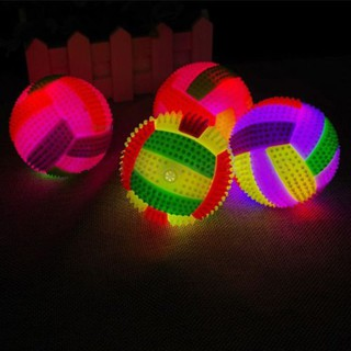 SuneiLED Flashing Light Up Sounding Bouncing Hedgehog Ball Volleyball Kids Toy Funny