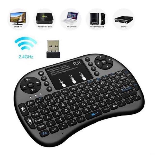 [Mã ELCLXU8 hoàn 150k xu đơn 500k] Bàn phím không dây mini keyboard kiên chuột cảm ứng đa năng wireless