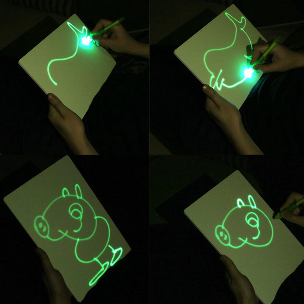 ◌◌◌Puzzle Drawing Toys Sketchpad Children Fluorescent Graffiti Drawing Board