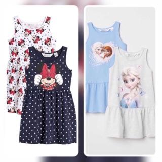CS-Set 2 vay cotton Mickey, Elsa bé gái xuất dư